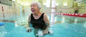 91-year-old Eileen Albrecht keeps active, working out several times a week at the Durango Community Recreation Center. Photo courtesy Shaun Stanley, Durango Herald.